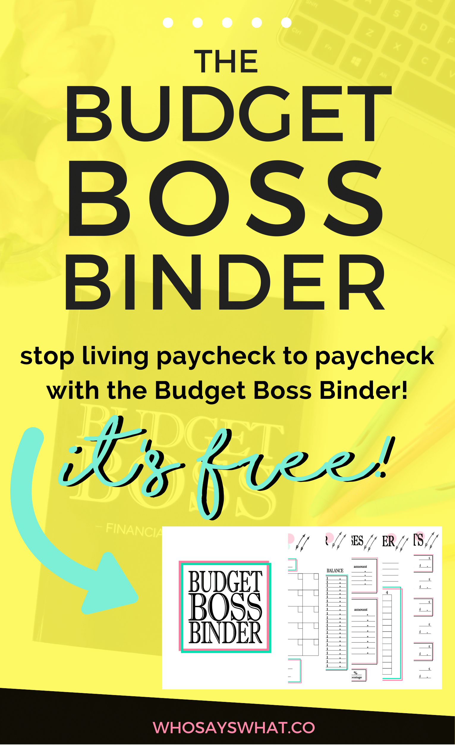 Free Budget Binder The Easiest Way To Become A Budget