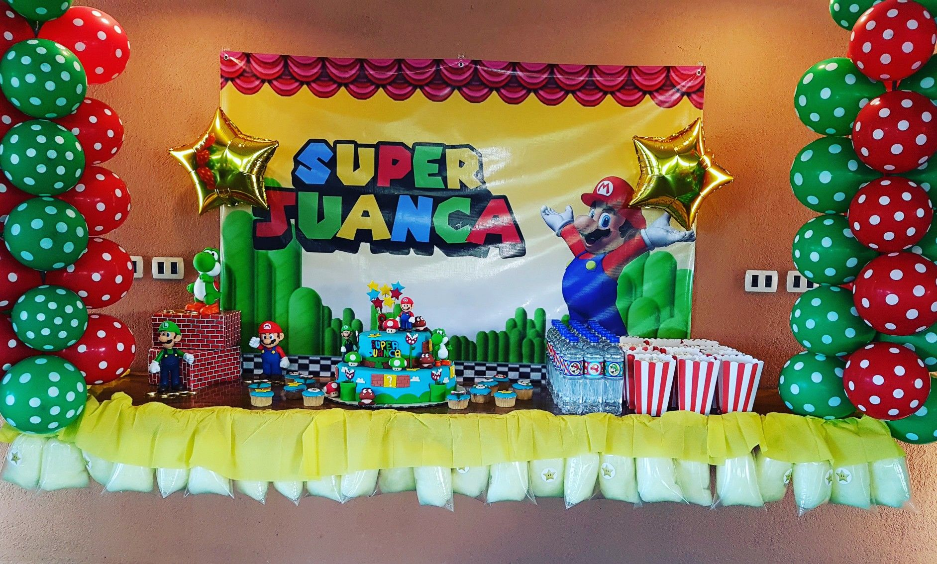 Super Mario Birthday Cake Table Super Mario Birthday Party Ideas