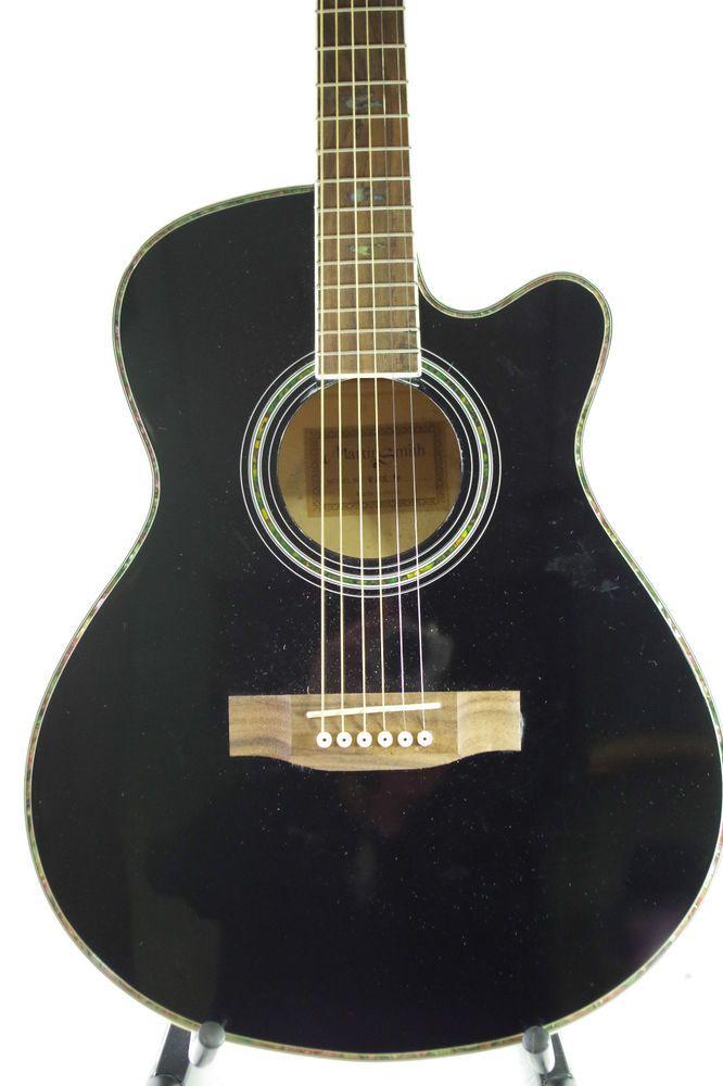 Martin Smith Acoustic Guitar Cutaway W401e Black Finish 1401533