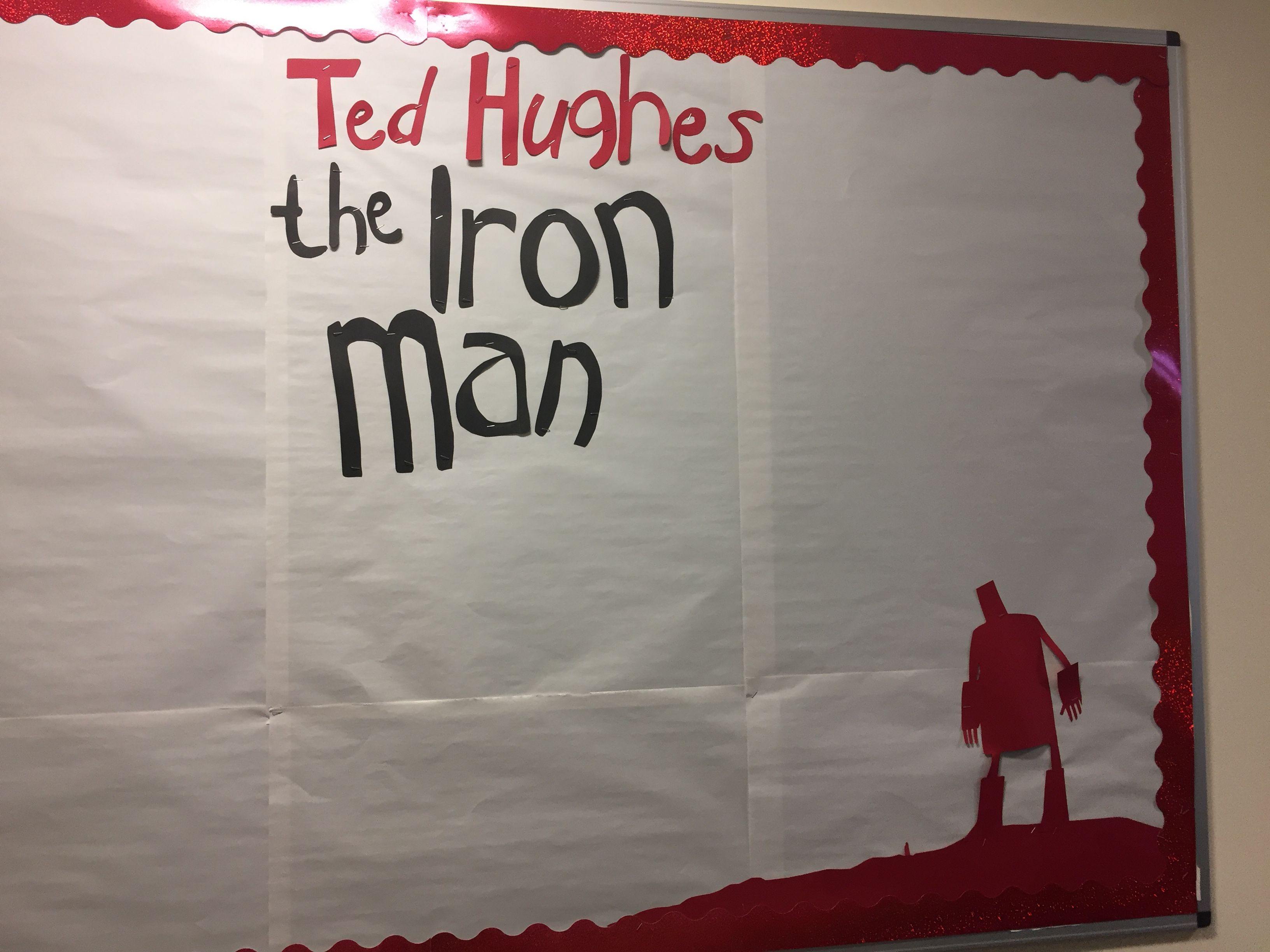 The Iron Man By Ted Hughes Display