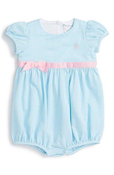 7d781910 Ralph Lauren Short Sleeve Bubble Romper (Baby Girls) | Products ...