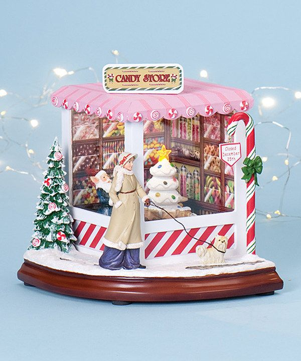 Look at this Musical Christmas Candy Shop Light-Up Figurine on #zulily today!