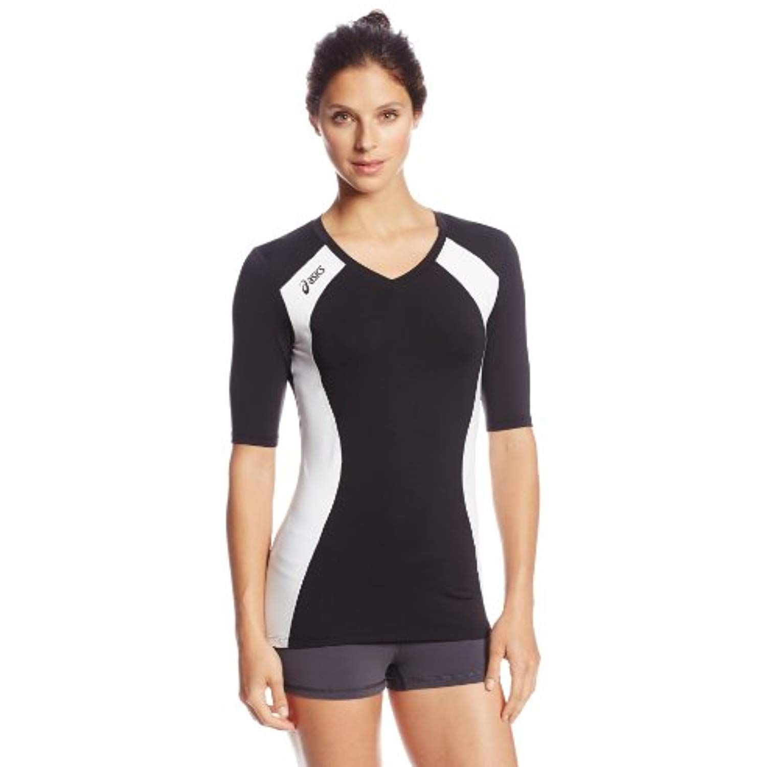 Asics Women S Aggressor Volleyball Jersey Black White Check This Awesome Product By Going To The Lin Asics Women Active Wear For Women Volleyball Jerseys