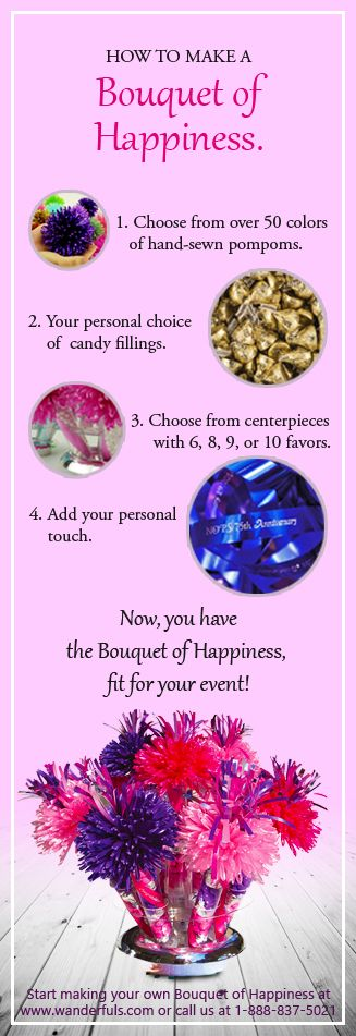 lovely Make Your Own Wanderfuls Part - 14: Start making your own Bouquet of Happiness at wanderfuls.com or call us at  1-888-837-5021.
