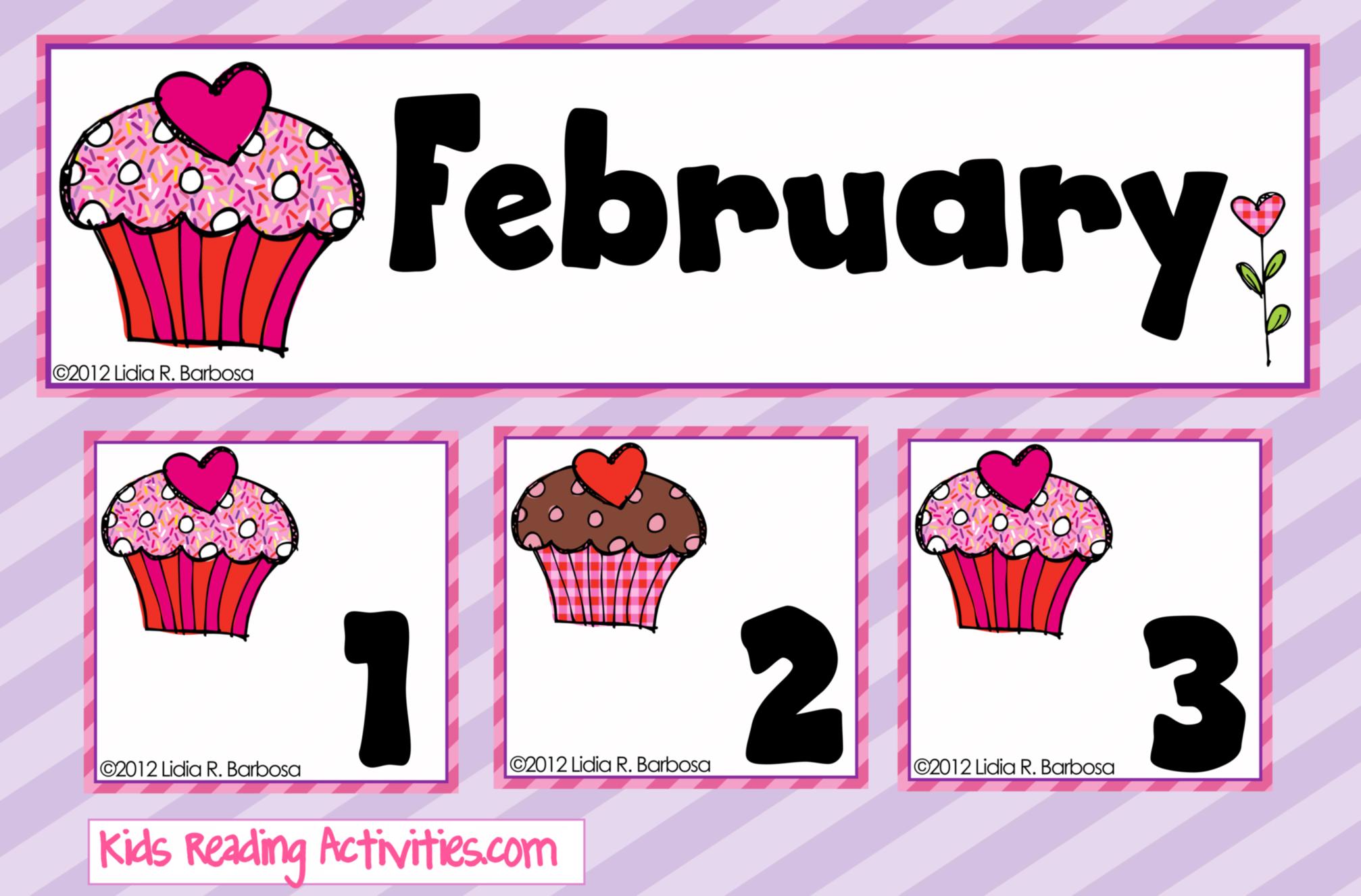 Free Calendar Pieces Strawberry And Chocolate Cupcakes