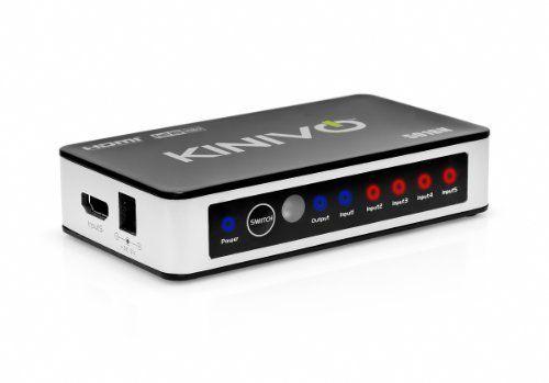 Kinivo 501BN Premium switch HDMI a 5 porte ad alta Velocità con telecomando infrarossi senza fili e adattatore AC - supporta 3D, 1080p di Kinivo, http://www.amazon.it/dp/B0049SCB2Y/ref=cm_sw_r_pi_dp_23iUrb11FYNVV