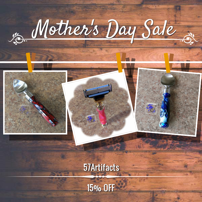 15% OFF on select products just in time for MOTHER'S DAY (5/8/2016).  57 Artifacts makes gifting a snap! Hurry, sale ending soon!  Ready.....Set......SHOP!!!: {{www.57Artifacts.etsy.com}}   #57Artifacts #handcrafted #etsy