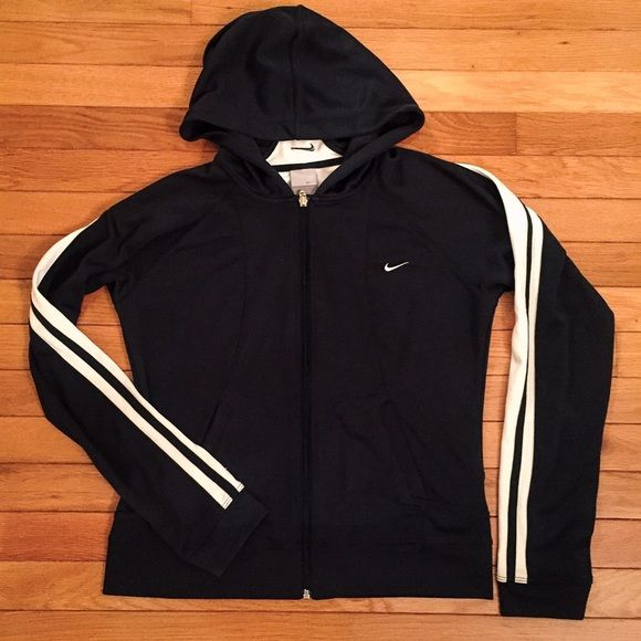 18b20e52 Nike black and white zip-up jacket Black and white nike jacket. Zip ...