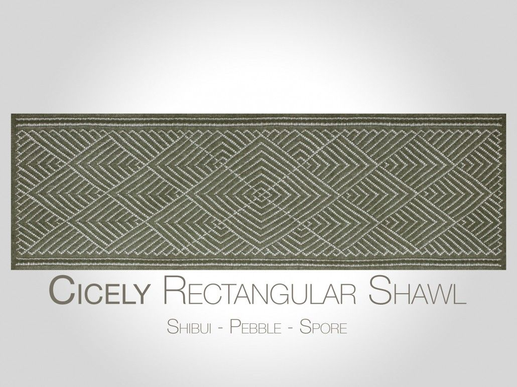 Steve Rousseau Designs • Cicely Rectangular Shawl • Knitting Pattern ...
