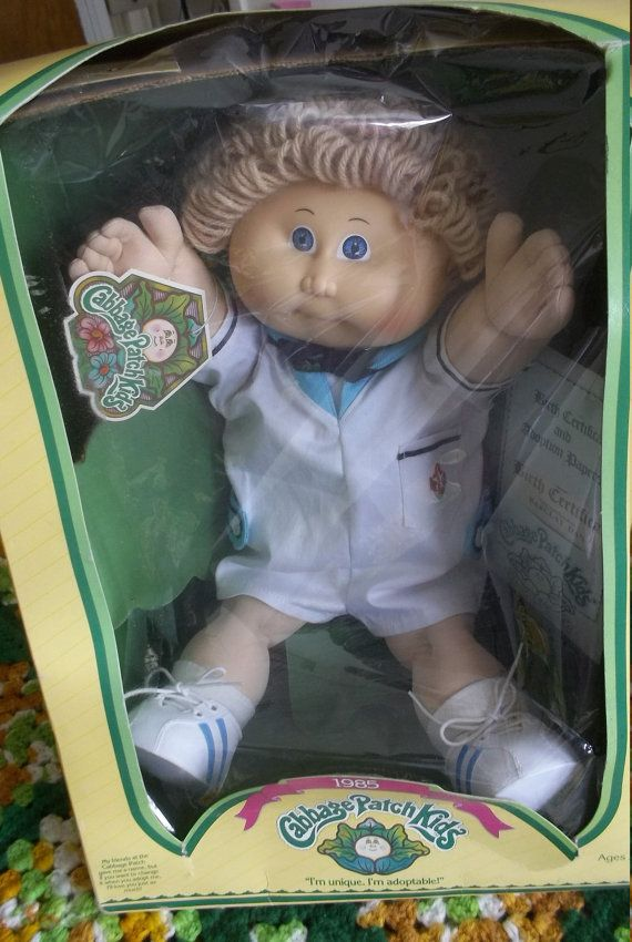 Vintage Cabbage Patch Boy Doll In Box Barclay Dan Sailor Suit Etsy Boy Doll Cabbage Patch Dolls Cabbage Patch Kids