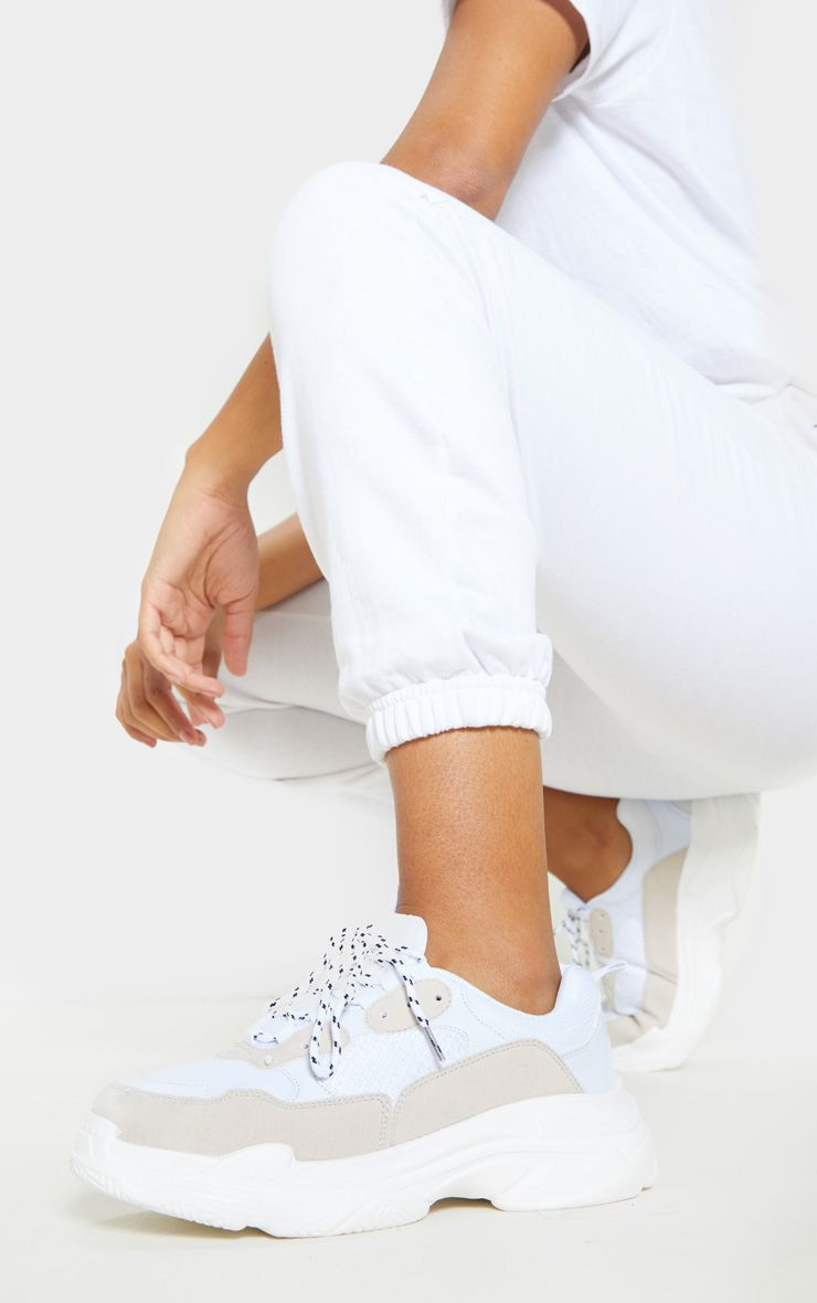 White Lace Up Chunky Sneakers | Shoes