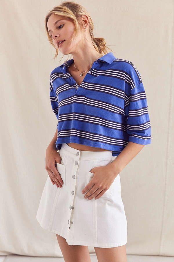 63ad5617005 Urban Renewal Recycled Cropped Short Sleeve Polo Shirt | Fashion ...