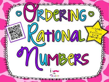 Ordering Rational Numbers**QR CODE Task Cards