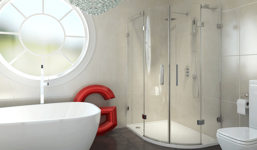 8 Series Frameless Offset Quadrant Shower Enclosure 900 x 760mm ...