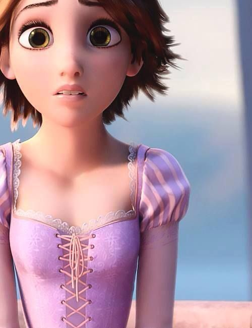 Rapunzel The First Princess To Have Brown Hair And Green Eyes