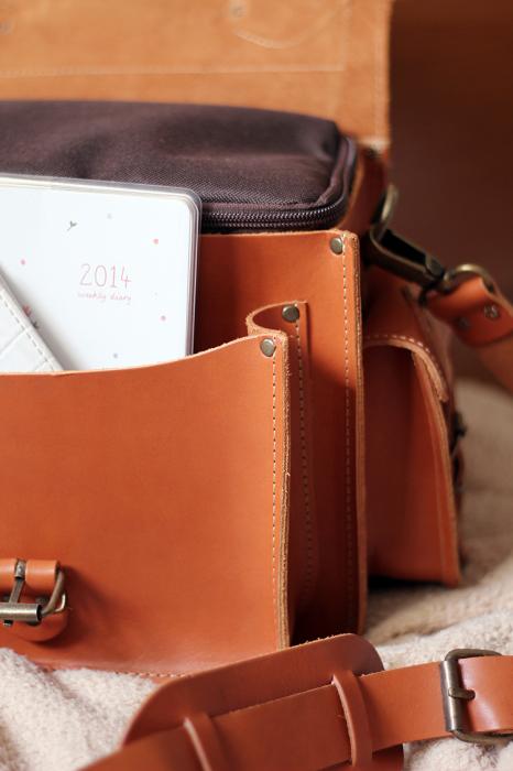 Grafea Leather Caramel Camera Bag On Daisycoeur Co Uk