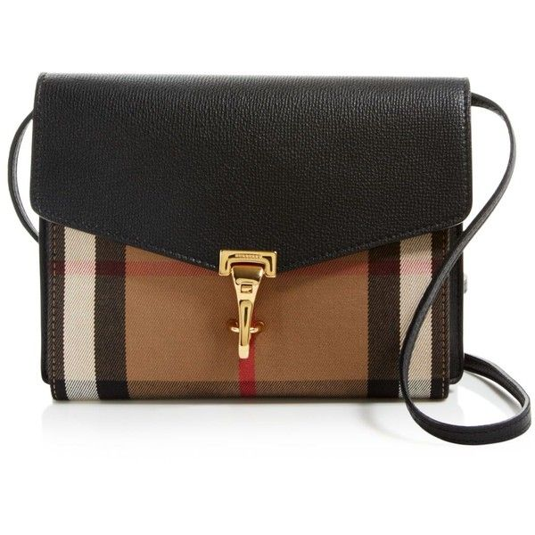 best service f895d a1280 Burberry Small House Check Macken Crossbody (€995) ❤ liked on Polyvore  featuring bags, handbags, shoulder bags, black, burberry shoulder bag,  burberry, ...