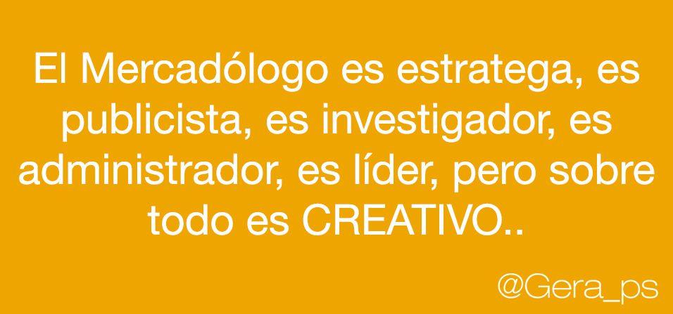 ¿Qué es un #mercadologo?...