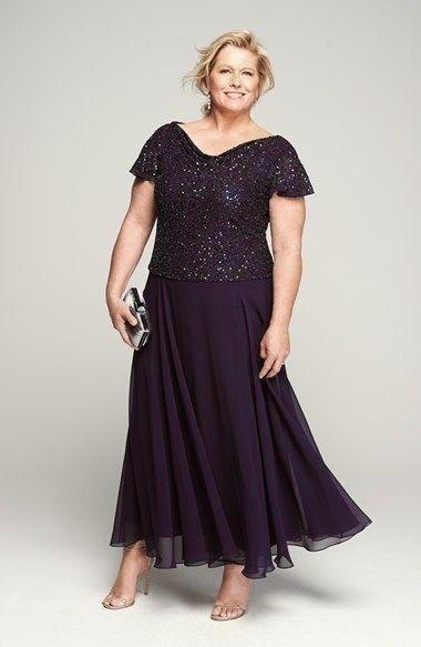 JKARA Beaded Mock Two Piece Chiffon Dress SZ 14 AUTHENTIC ...