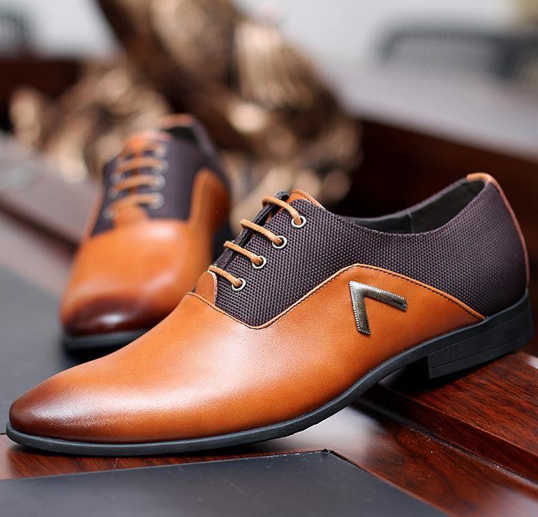 Cheap El tamaño grande 38 47 nuevo Mens Oxford Zapatos 2015 del cuero  genuino de oficina