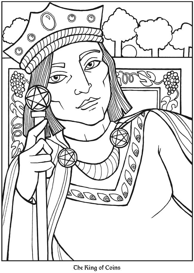 Tarot Designs Coloring Book For Adults