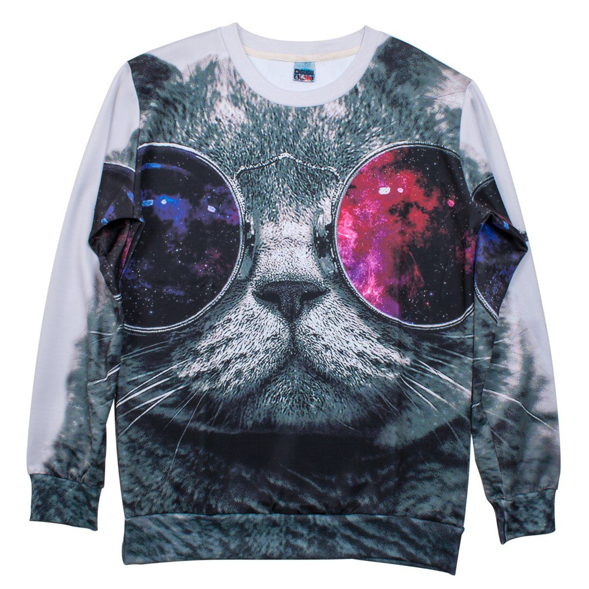 3d Cool Cat Animals Sweatshirts Space Print Pullovers Jumper T Shirt Tee Amazon Co Uk Clothing Sweatshirts Galaxy Sweatshirt Print Pullover [ 1200 x 1200 Pixel ]