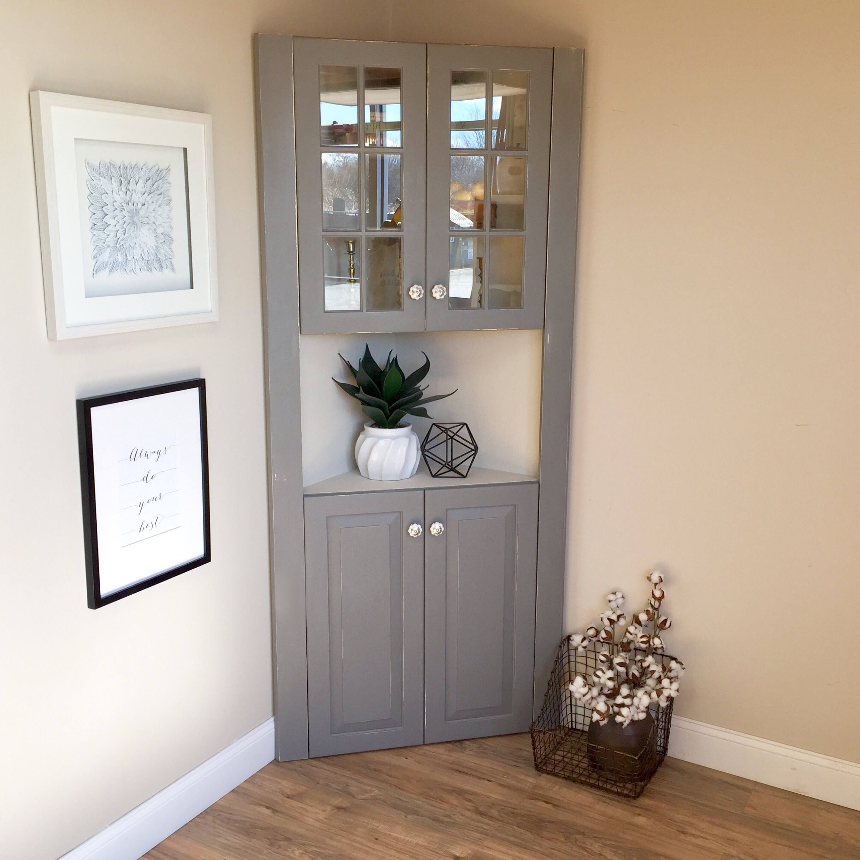 Download Wallpaper White Kitchen Corner Hutch
