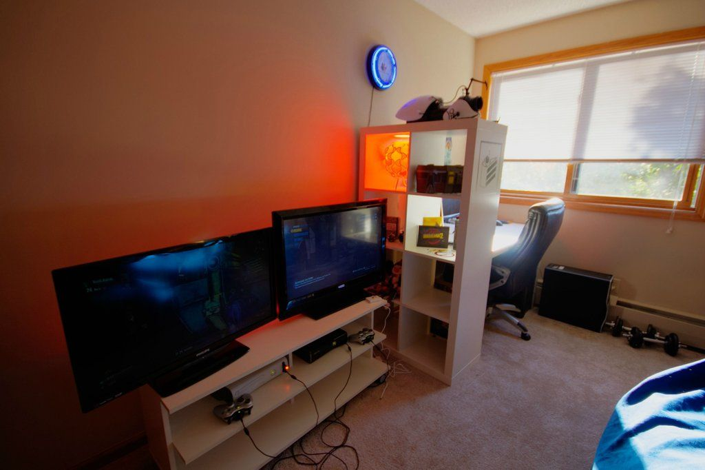 Check out this article and get 10 amazing game room ideas and more. Finished Office/Game Room | Office games, Game room, Room