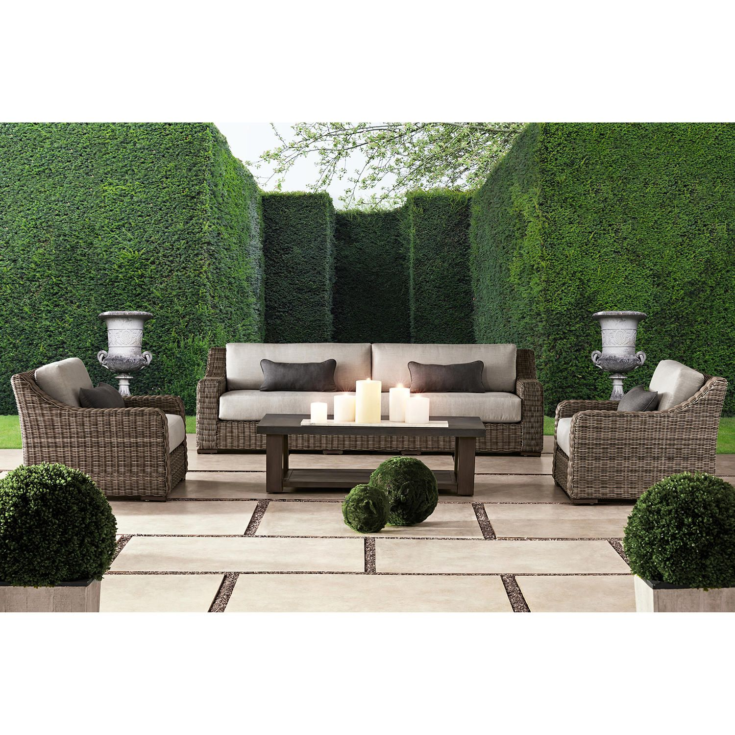 Member S Mark Colton 4 Piece Deep Seating Set Sam S Club Deep Seating Outdoor Living Furniture Outdoor Seating Set