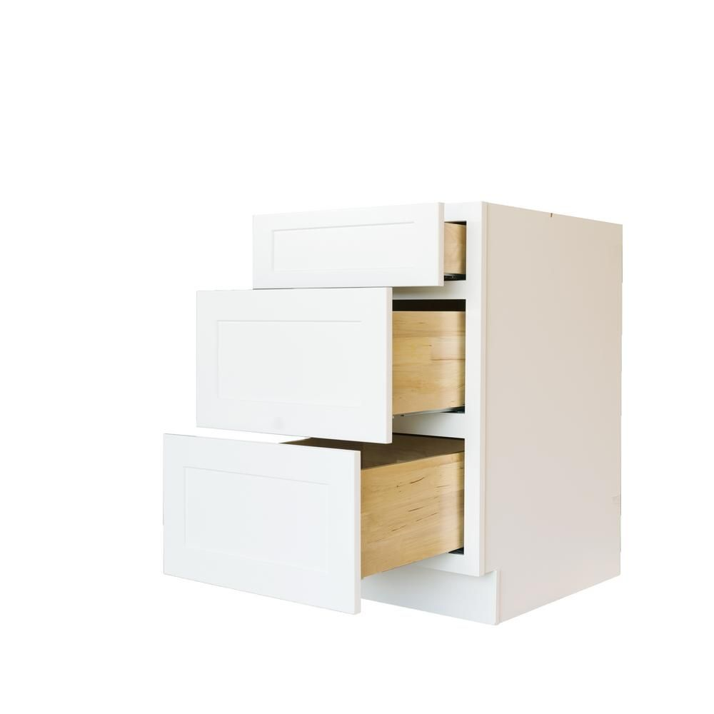 null Bremen Ready to Assemble 36x34.5x24 in. Shaker Base Drawer with ...