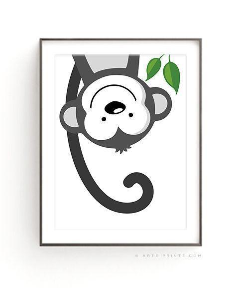 Monkey Poster Digitaler Download digital download