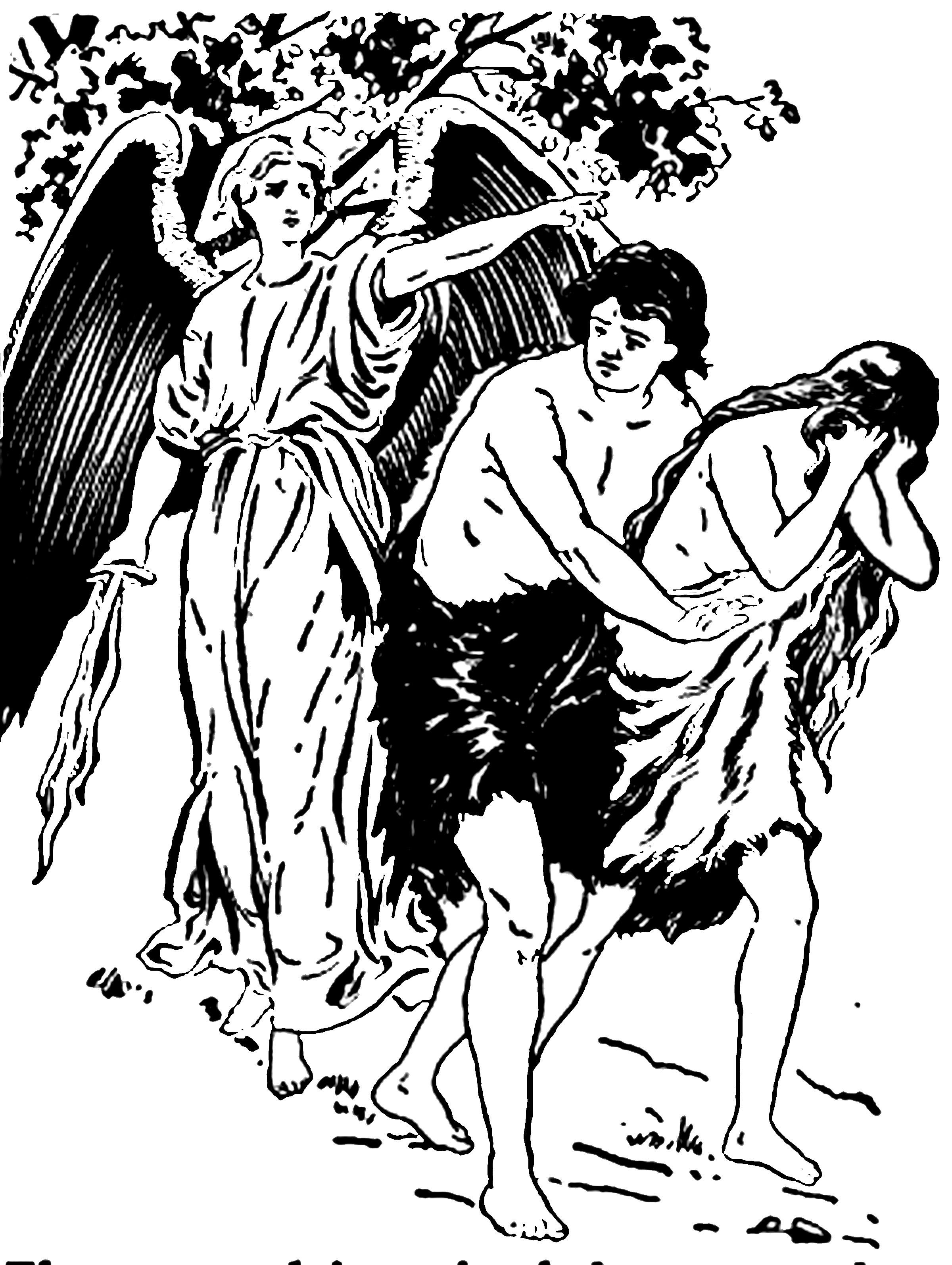 adam and eve coloring pages garden of eden - Adam Eve Story Coloring Pages