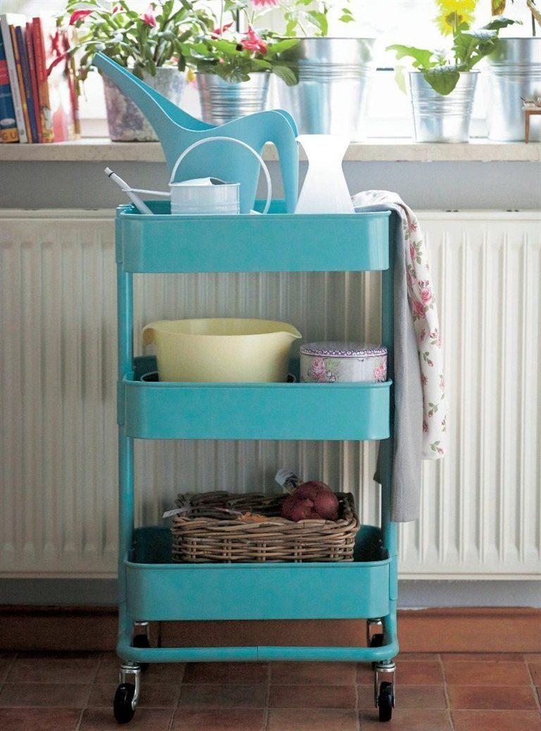 RÅSKOG kitchen trolley £50 35×45, H78cm. Turquoise. 302.165.36 I ...