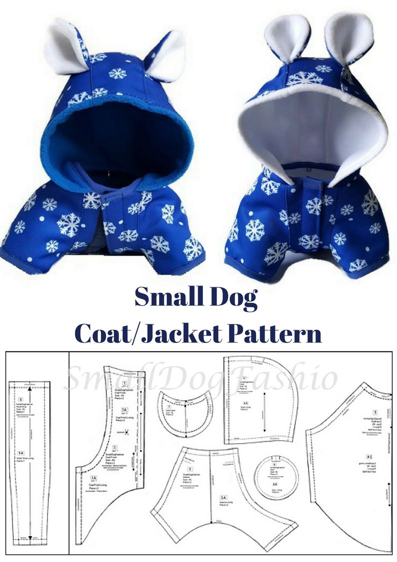 Dog coat pattern dog clothes patterns for sewing small dog clothes pattern pdf tutorial pdf sewing pattern small dog coatjacket pattern jeuxipadfo Image collections