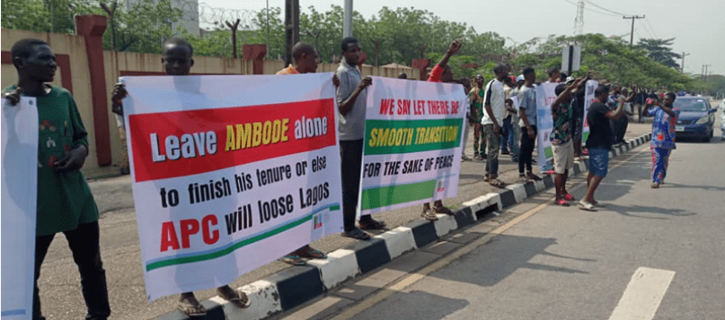 Pro Ambode Group Storms Lagos Assembly Protests Planned Impeachment How To Plan Peaceful Protest