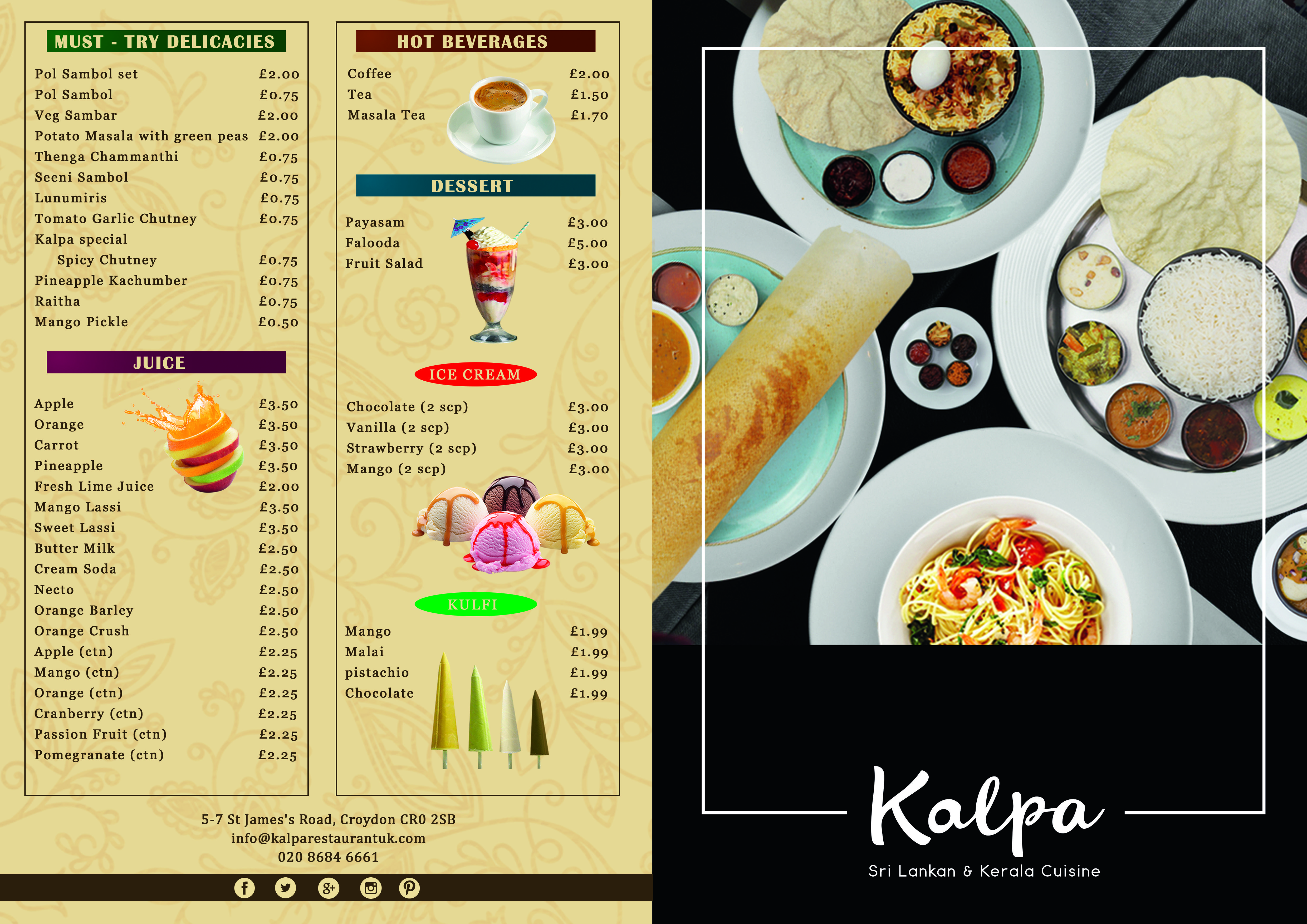 Look out our New designed menu card and Updated food