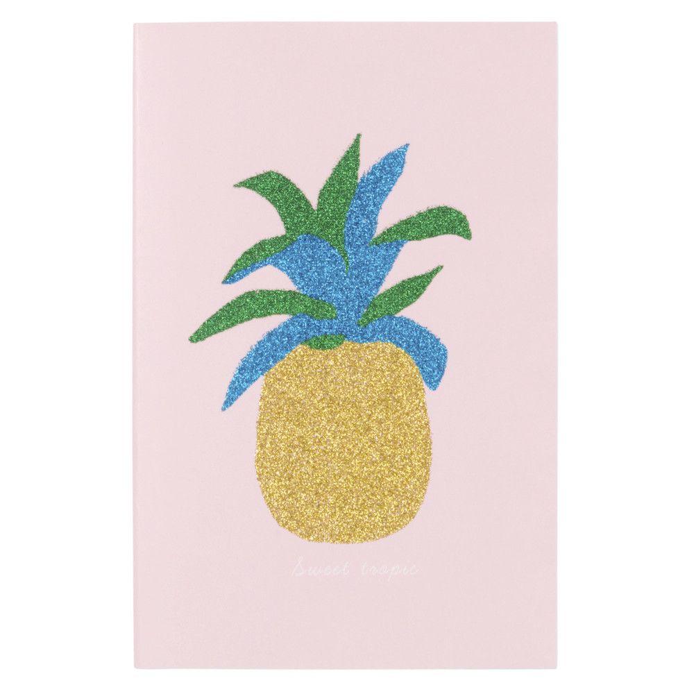 carnet de notes imprim ananas paillettes maisons du. Black Bedroom Furniture Sets. Home Design Ideas