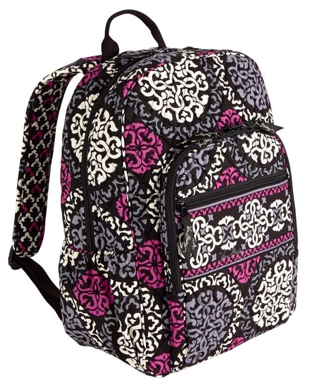 3dcac665a049 NWT VERA BRADLEY Canterberry Magenta Campus Backpack Book school bag I have  this backpack in petal paisly
