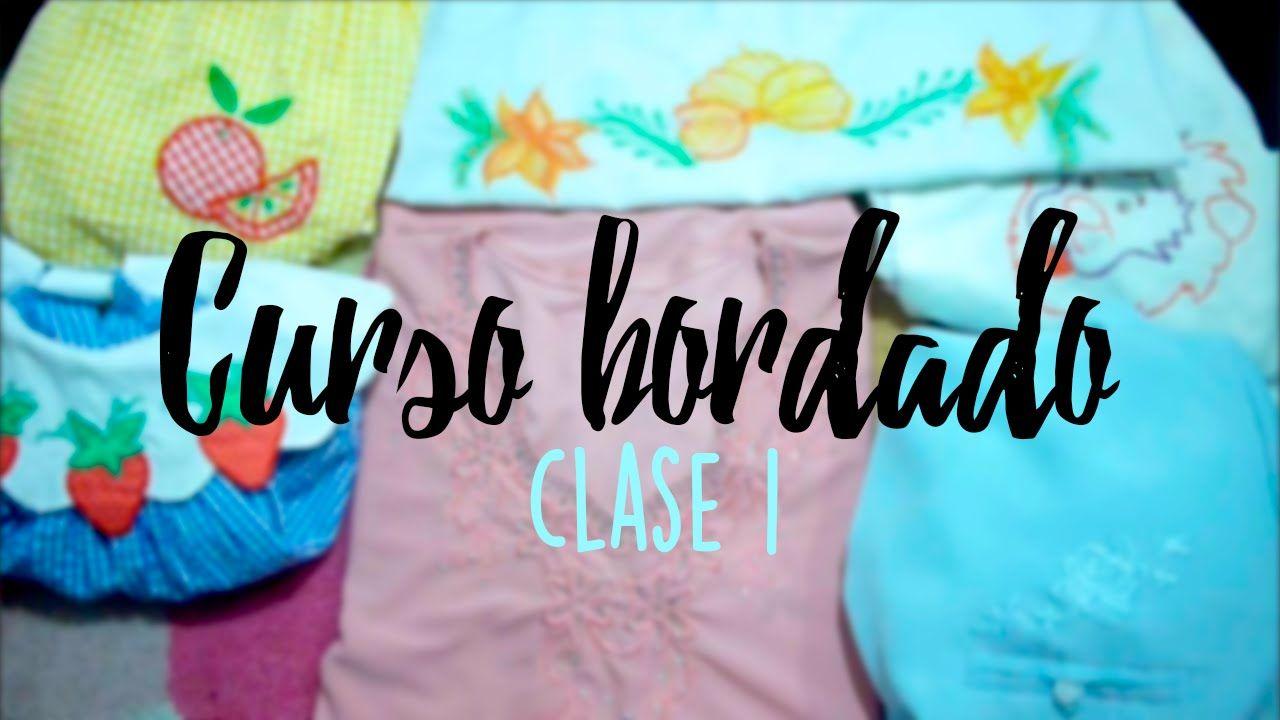 CURSO BORDADO CON MAQUINA DE COSER. | CLASE 1. | SEWING | Pinterest ...
