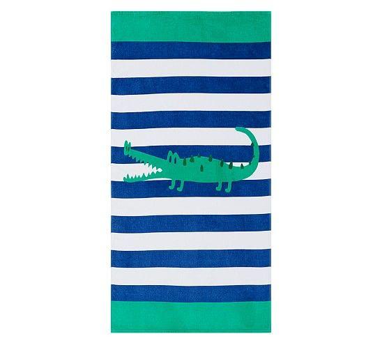 Alligator Classic Stripe Beach Towel