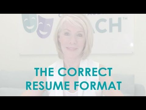 Dos And Don Ts Of Resumes Headshots Audition Youtube