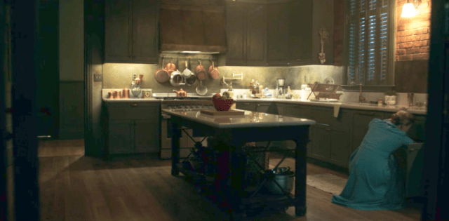 farm house interior design is part of Rustic Farmhouse Interior Design Ideas That Homebnc - The Waterford's House from The Handmaid's Tale Kitchen