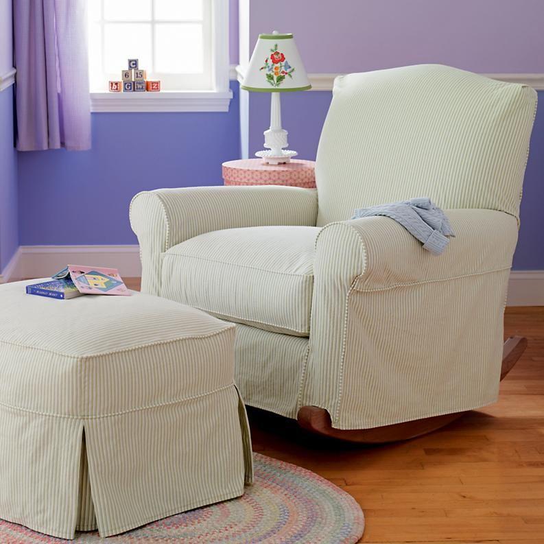 Adult seating chocolate brown upholstered rocking nursery