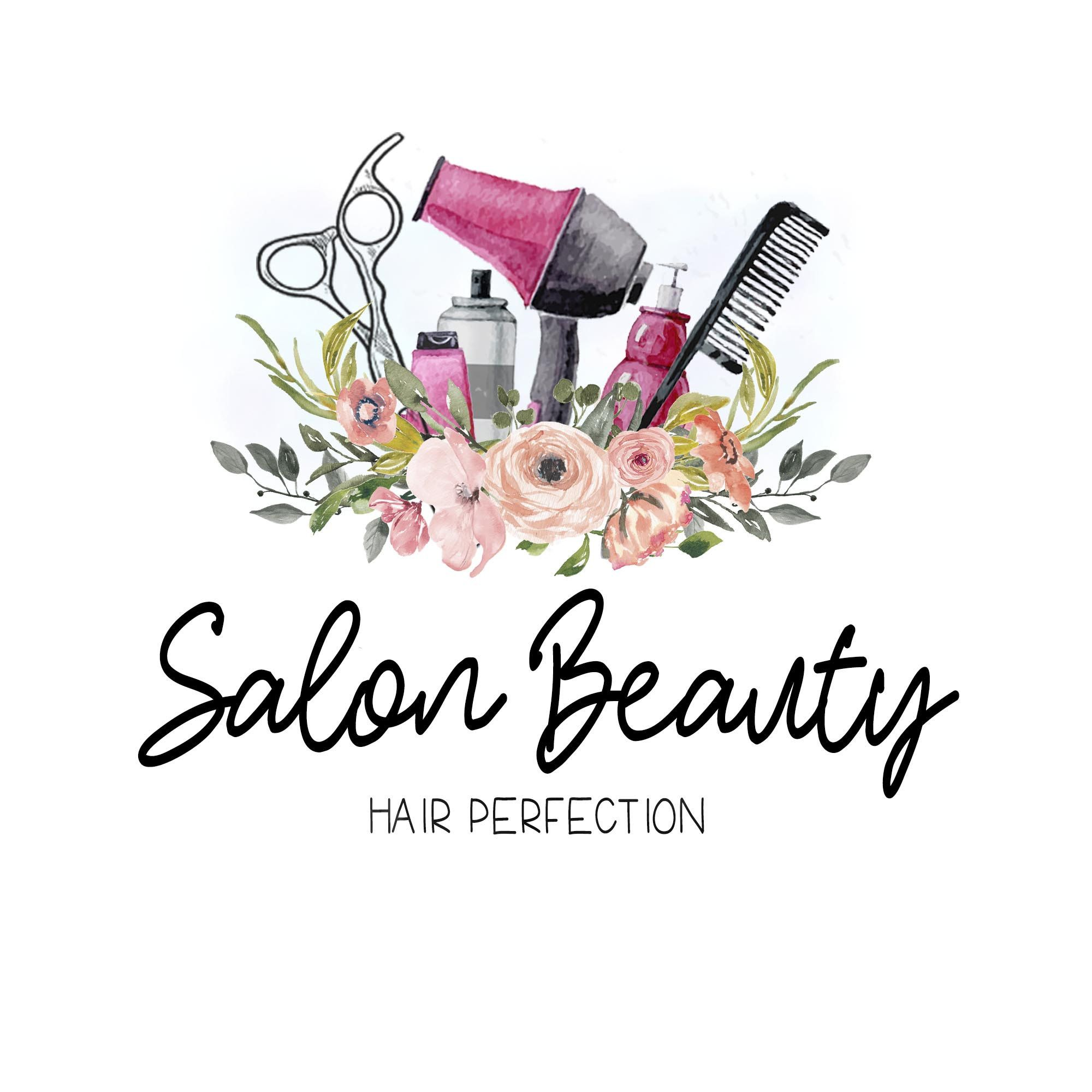 Premade Custom Logo SALON BEAUTY Premade Logo, Boho Hair