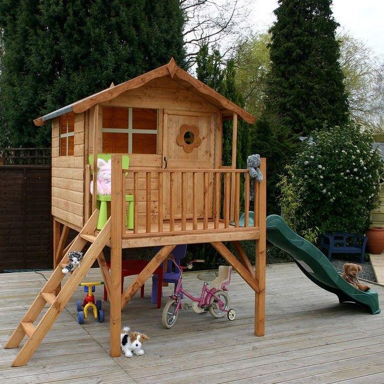 Wood Pallet Playhouses For Kids In 2019 Flowers N Yard