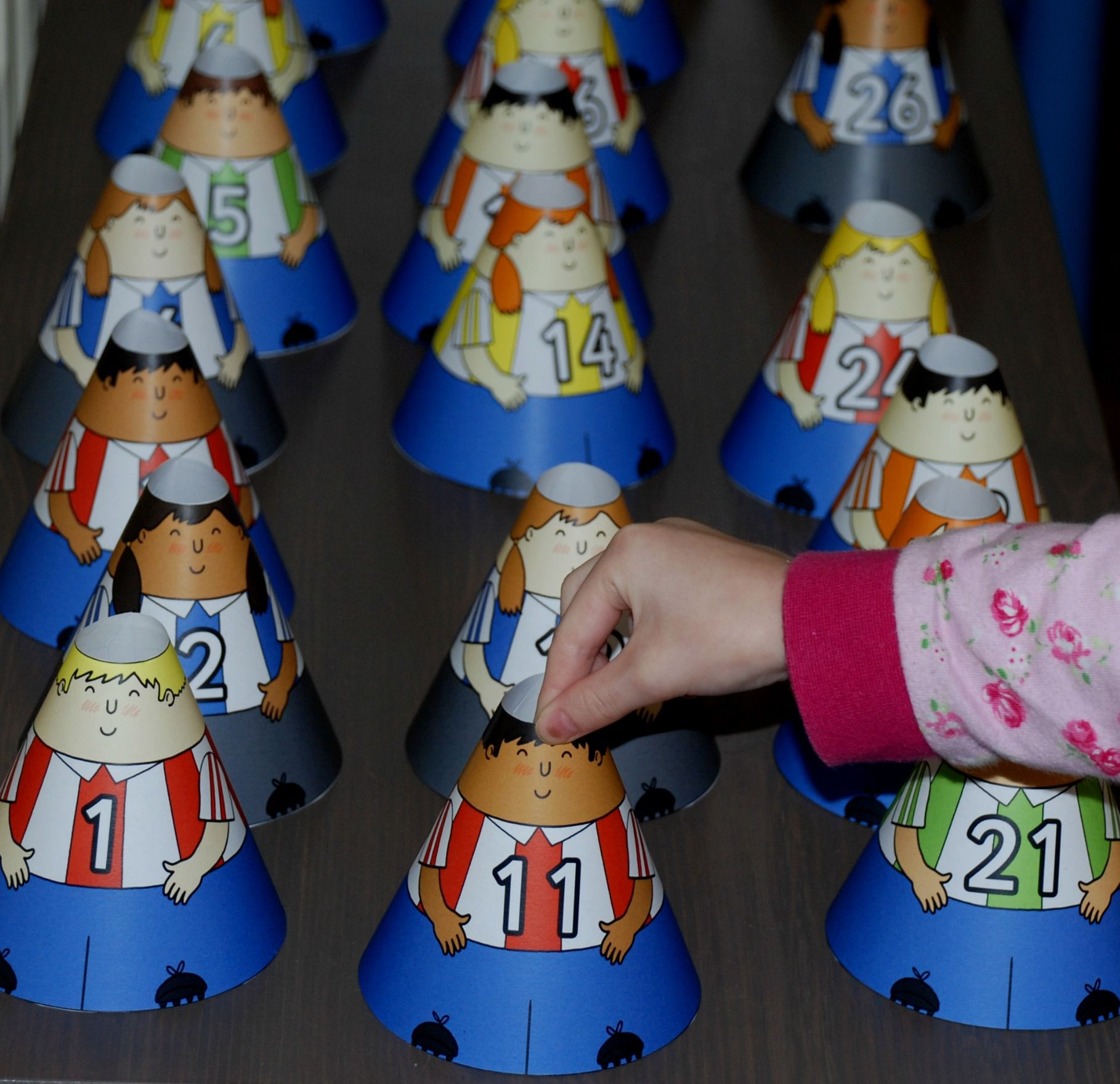 Numbers Cone People Fun Maths Learning