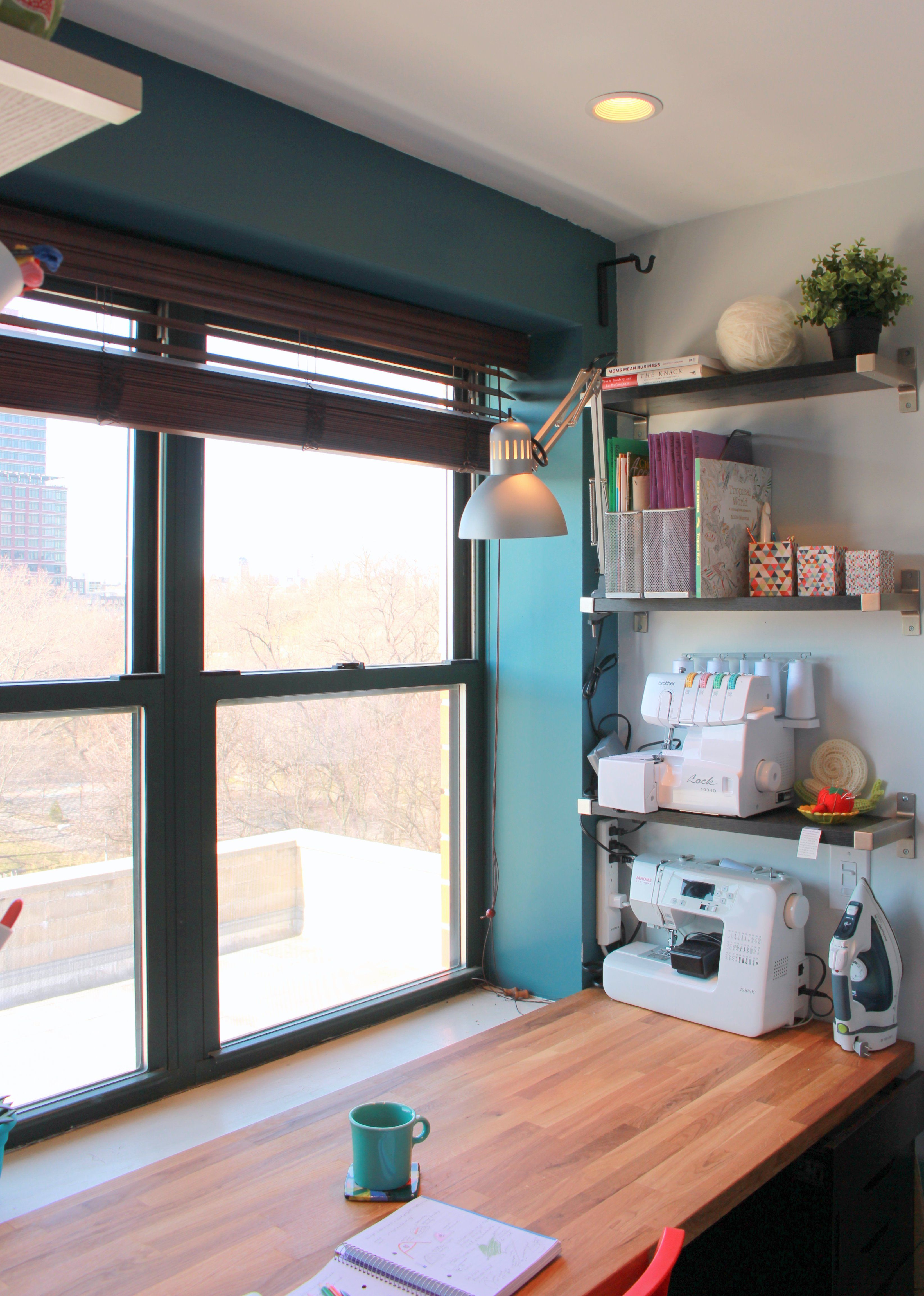 Creating in new york city craft nook tour sewing room