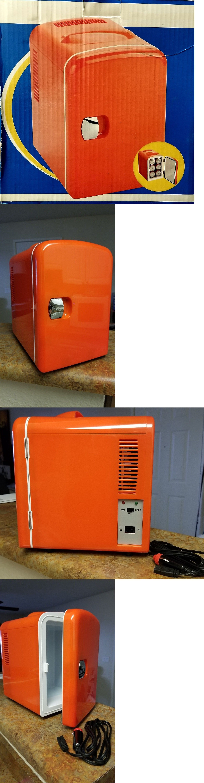 Mini Fridges 71262 Mini Car Fridge Warmer Orange 12v 14 Cu Ft 4 Liter Holds 6 Cans Buy It Now Only 14 95 On Ebay Fridges Mini Cars Mini Mini Fridges