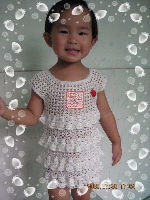 японские и китайские модели для девочек крючком вязание для