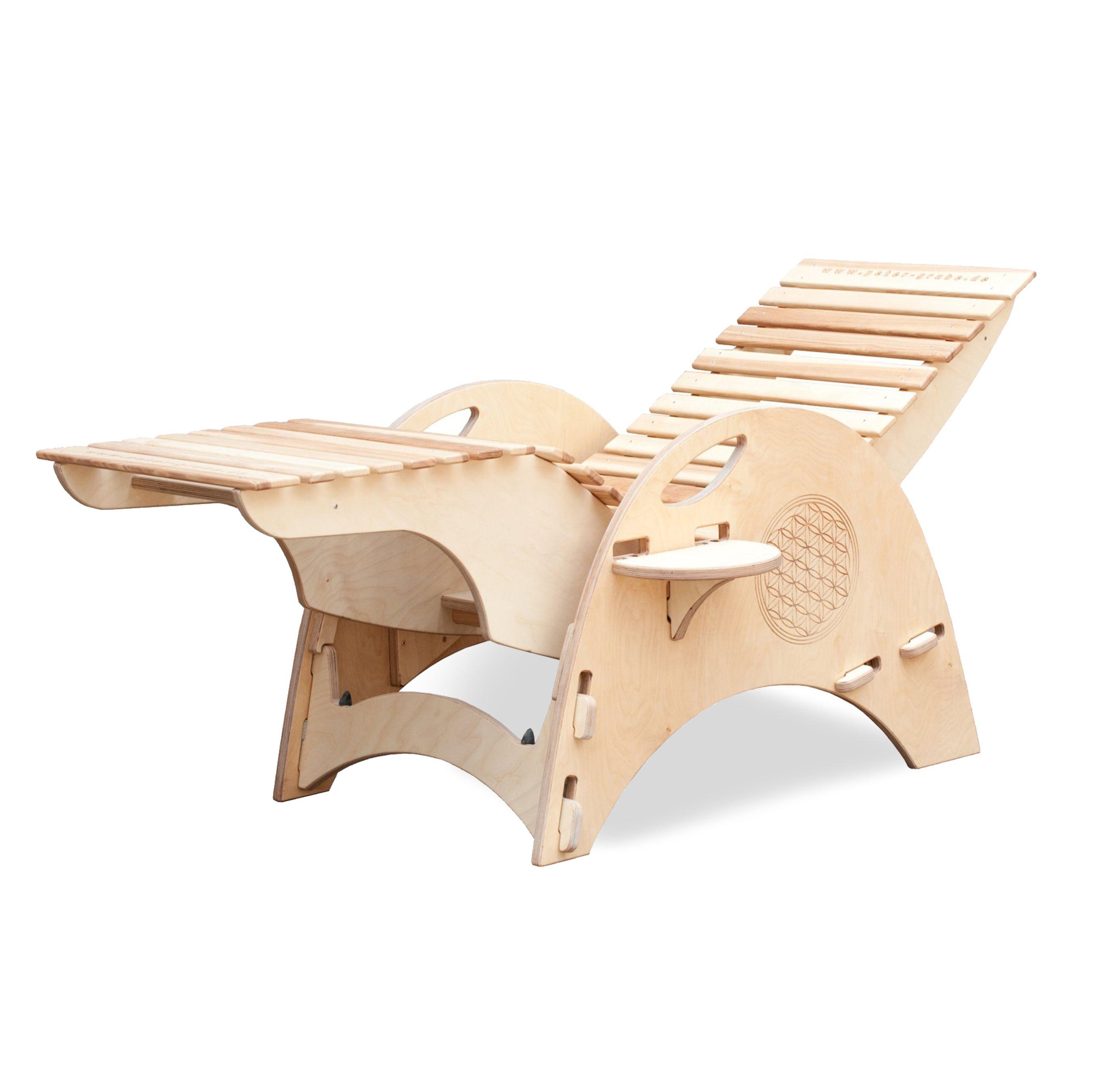 Inspirational Bio Relaxliege f r Garten oder Sauna Mit Wippfunktion